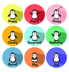 Penguin EmotionsCL vector image
