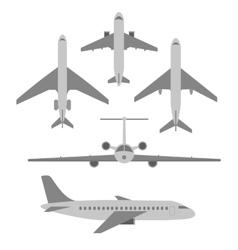 Set of planes passenger planes vector