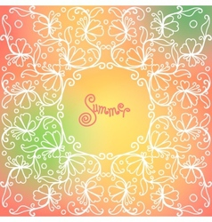 Summer pattern of spirals swirls chains vector