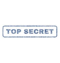 Top secret textile stamp vector