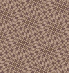 Vintage brown geometric pattern background vector