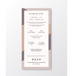 Wedding invitation template modern vector