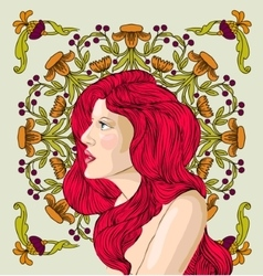 Woman with red hair vector image