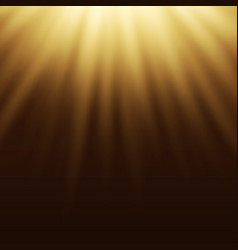 Yellow light effect sun rays beams on brown vector