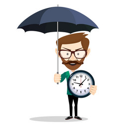 your time protection and optimization vector image