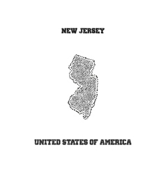 Label with map of new jersey vector