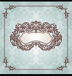 floral retro frame vector image
