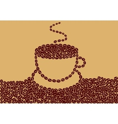 Abstract cup of coffee vector