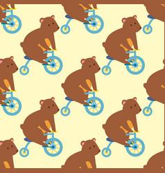 Circus funny performance bear animal vector
