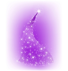 Christmas purple tree with stars vector