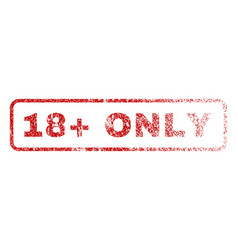 18 plus only rubber stamp vector image vector image