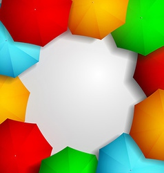 Frame of colorful umbrellas vector