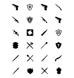 Weapons icons 4 vector