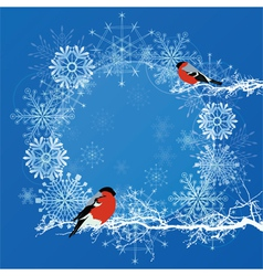 abstract background with bullfinches vector image