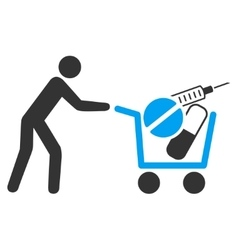 Medical shopping icon vector