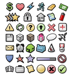 Web game user interface icons vector