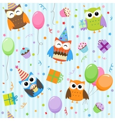 Party owls vector
