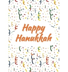Happy hanukkah card with exploding party popper vector
