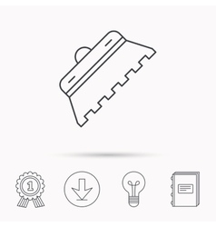 Trowel for tile icon spatula repair tool sign vector