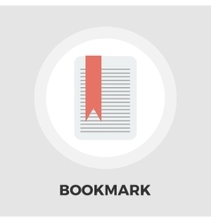 Bookmark flat icon vector