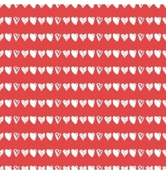 Doodle seamless pattern with hearts vector image
