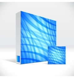3d identity box with abstract blue lines cover vector