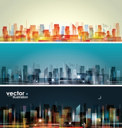 City landscape vector image