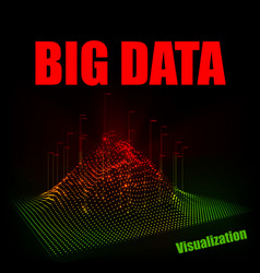 abstract 3d big data visualization vector image