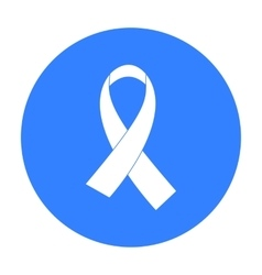 Aids ribbon icon in black style isolated on white vector