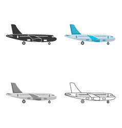 airplane icon of for web and vector image