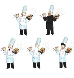 Asian cook vector