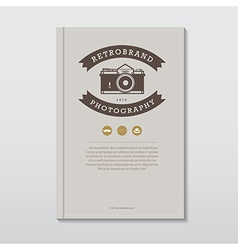 Book cover in vintage hipster style vector