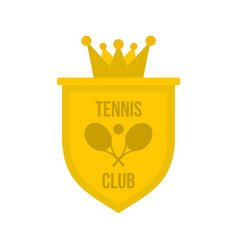Coat of arms of tennis club icon flat style vector