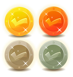 Credit coins set for game interface vector