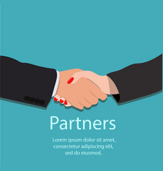 handshake partnership or teamwork concept vector image