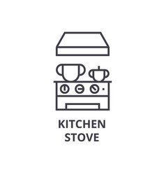 kitchen stove line icon outline sign linear vector image