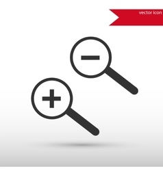 Magnifying glass isolated black icon and vector