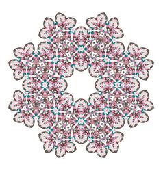 mandala ethnicity round ornament vector image vector image