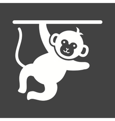 Monkey Performing vector image vector image