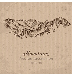 Mountains ridge vector
