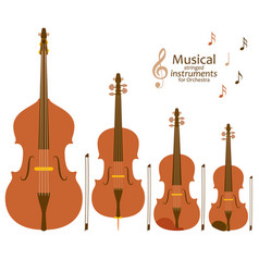 musical stringed instruments for orchestra vector image
