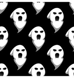 Night ghost halloween seamless pattern vector