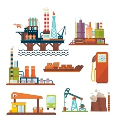 Oil industry business concept of gasoline diesel vector image
