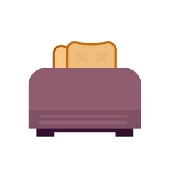 Old fashioned toaster vector