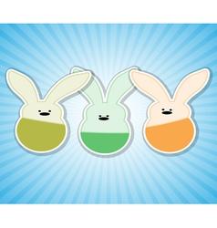 rabbit blue vector image vector image