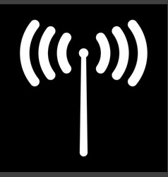 Radio signal it is the white color icon vector
