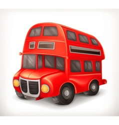 Red double deck bus vector