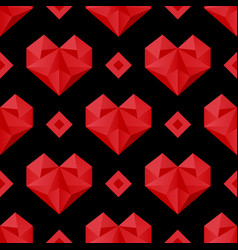 Red hearts pattern vector