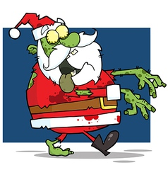 Santa Claus Zombie vector image vector image