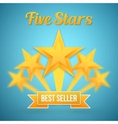 Set of gold stars icon five stars icon vector